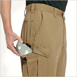 バートル 6072 制電T/Cソフトツイルカーゴパンツ(JIS T8118適合)(男女兼用)  Phone収納ポケット