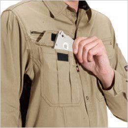 バートル 6103 [春夏用]T/Cライトチノ長袖シャツ(男女兼用)  Phone収納ポケット