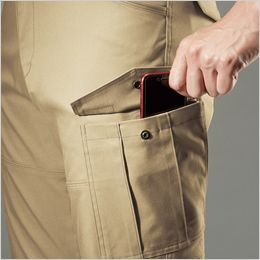バートル 7052 ストレッチ高密度ツイルカーゴパンツ(男女兼用) Phone収納ポケット