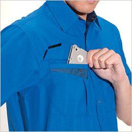 バートル 7065 [春夏用]ソフトトロピカル半袖シャツ(男女兼用) Phone収納ポケット