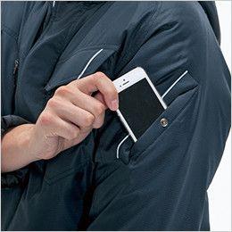 バートル 7210 [秋冬用]サーモトロン防寒ブルゾン(大型フード付)(男女兼用) ポケット(リフレクターデザイン)