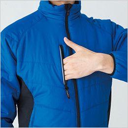 バートル 7310 背面マイクロフリース防寒ジャケット(男女兼用) ファスナーポケット(リフレクターデザイン)