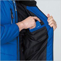 バートル 7310 背面マイクロフリース防寒ジャケット(男女兼用) 内ポケット