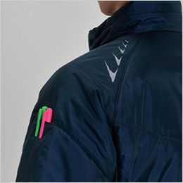 バートル 7316 PUコーティング半袖防寒ブルゾン(男女兼用) ペンポケット