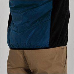 バートル 7316 PUコーティング半袖防寒ブルゾン(男女兼用) ニットバイビング