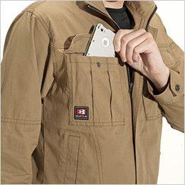 バートル 8031 チノクロスジャケット(綿100%)(男女兼用) Phone収納ポケット
