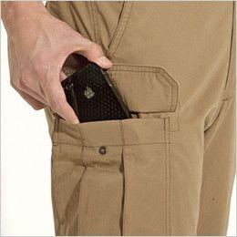 バートル 8096 [春夏用]綿100%ライトチノカーゴパンツ(男女兼用) Phone収納ポケット