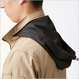 AC1111P バートル エアークラフト[空調服]迷彩 長袖ジャケット(男女兼用) ポリ100% 収納式フード(スピンドル付き)(全色ブラック)