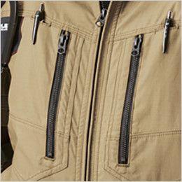 AC1141 バートル エアークラフト[空調服]綿100% ハーネス対応  長袖ブルゾン(男女兼用) デザインファスナー