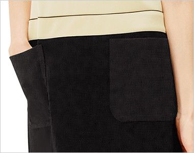 CL-0202 キャララ(Calala) ワンピース(女性用) 上下ツートン ポケット付き