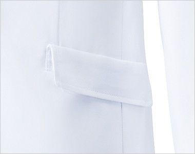 MZ-0023 ミズノ(mizuno) レディースドクターコート・シングル(女性用) ポケット(右脇だけ中ポケット付き)