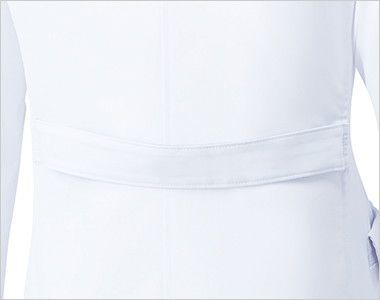 MZ-0023 ミズノ(mizuno) レディースドクターコート・シングル(女性用) 背ベルトでシルエットが調整できます