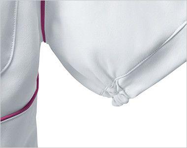 UN-0040 UNITE(ユナイト) チュニック(女性用) 絞られているため腕を上げた時に脇から下着が見えにくい