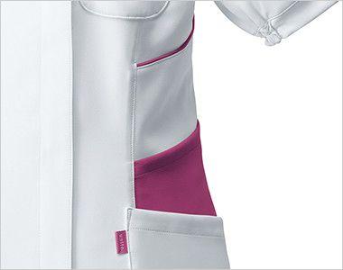 UN-0040 UNITE(ユナイト) チュニック(女性用) 収納力豊富な三段ポケット