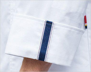 1538PP FOLK(フォーク)×Dickies ドクターコート デニム風パイピング(男性用) 折り返して着れる袖デザイン