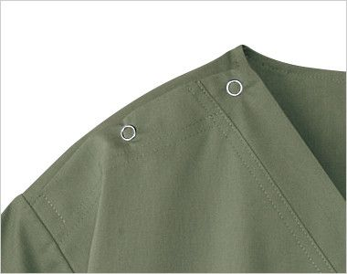 7033SC FOLK(フォーク)×Dickies スクラブ(男女兼用) 着脱のしやすいホック(リングドット)付き