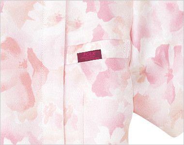 7034SC FOLK(フォーク)/フラワー レディース花柄ジップスクラブ(女性用) 箱ポケット付き