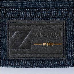 自重堂Z-DRAGON 75600 [春夏用]ストレッチデニム長袖ジャンパー 革ラベル(人工皮革)