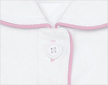自重堂WHISEL WH12000 ワンピース パイピング(女性用) 配色のボタン穴かがり