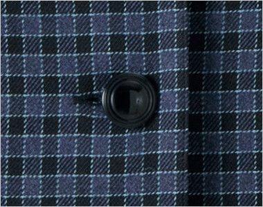 en joie(アンジョア) 21010 寒い時期にオススメ!落ち着きあるチェック柄の長袖オーバーブラウス(リボン付) シンプルな黒ボタン