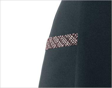 en joie(アンジョア) 61430 1枚でも絵になるノーブルな上質ワンピース(女性用) ツイード×無地 斜めラインでチェック柄のポケット