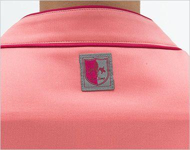 RF5087 ナガイレーベン(nagaileben) ニットスクラブ(女性用) ロゴ