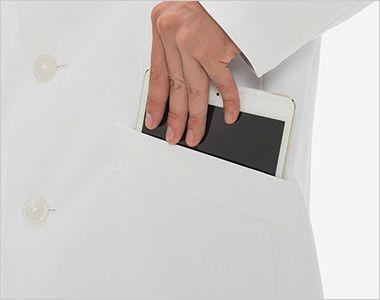 SD3000 ナガイレーベン(nagaileben) シングルコート長袖(男性用) タブレットが収納できる脇ポケット