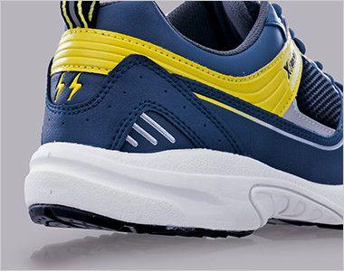 ジーベック 85805 静電スポーツシューズ[先芯無し] クッション性の高いソフトな履き心地の軽量ソールを採用。
