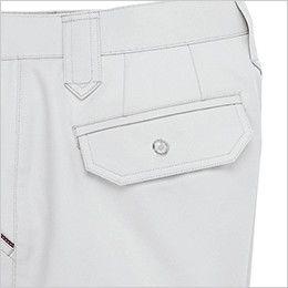 ジーベック 8883 ツータック ラットズボン ボタン仕様のフラップポケット