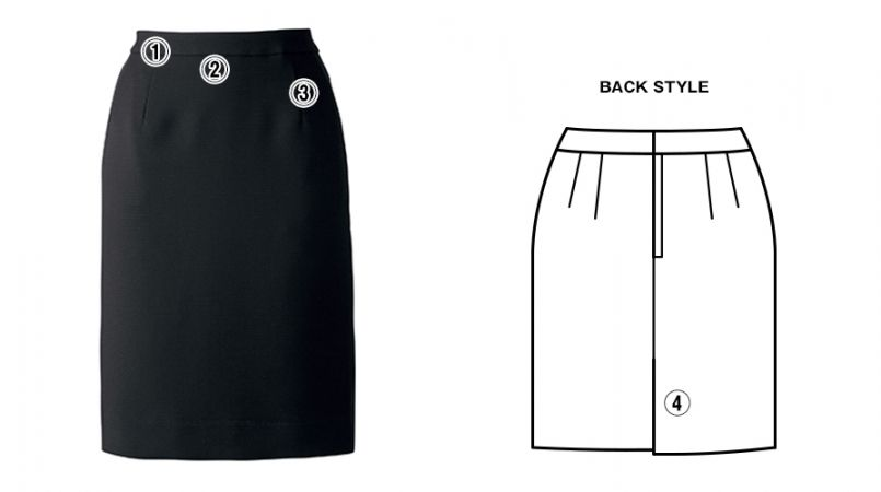 BONMAX AS2278 [通年]インプレス タイトスカート 無地 商品詳細・こだわりPOINT