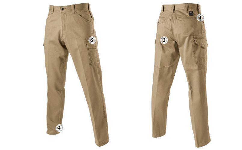 バートル 5202 ヴィンテージサテンカーゴパンツ(綿100%)(男女兼用)裾上げNG 商品詳細・こだわりPOINT