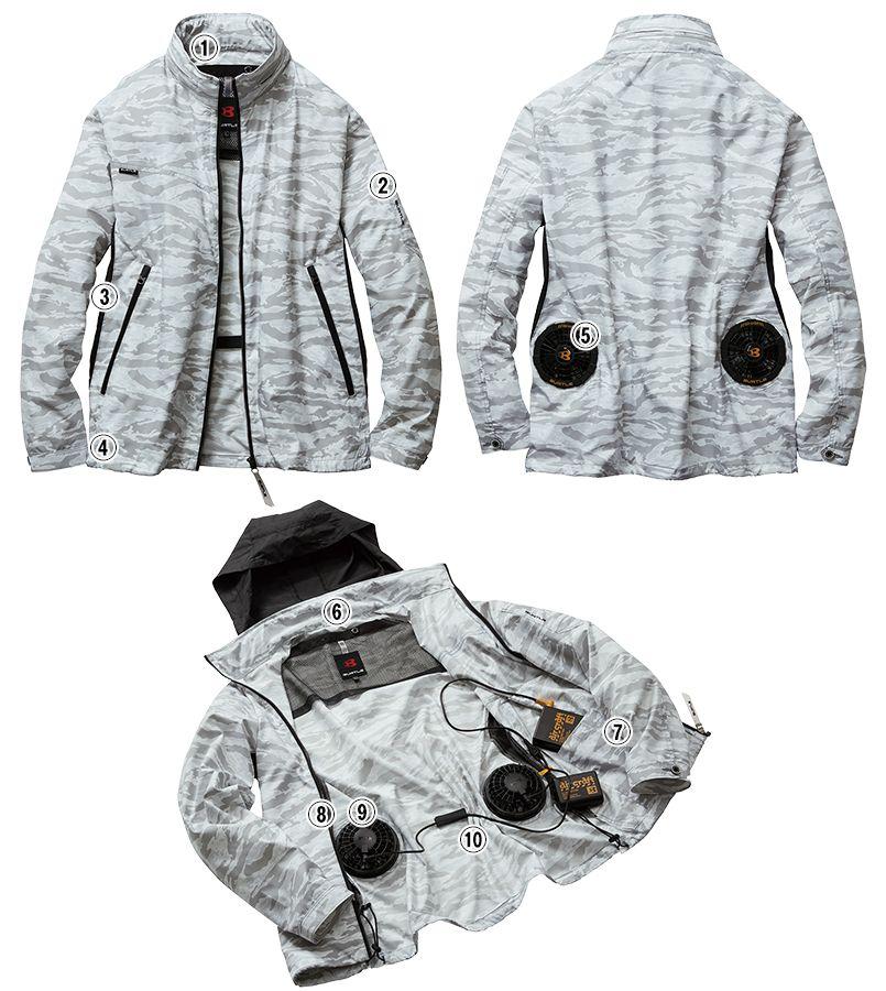 AC1111P バートル エアークラフト[空調服]迷彩 長袖ジャケット(男女兼用) ポリ100% 商品詳細・こだわりPOINT