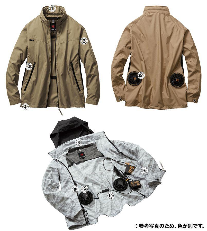 AC1111SET バートル エアークラフトセット[空調服]長袖ジャケット(男女兼用) ポリ100% 商品詳細・こだわりPOINT
