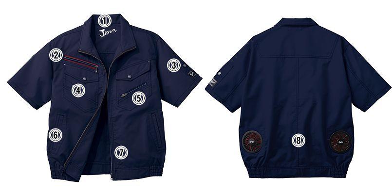 自重堂 54040  [春夏用]JAWIN 空調服 制電 半袖ブルゾン 商品詳細・こだわりPOINT