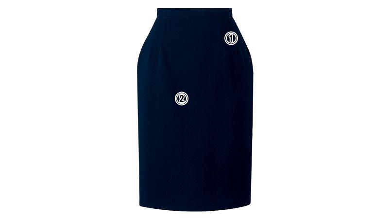 en joie(アンジョア) 56150 [春夏用]清涼感があり定番シルエットのタイトスカート 無地 商品詳細・こだわりPOINT