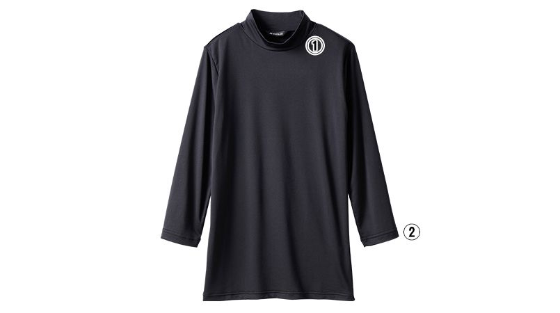 EPU421-1 MONTBLANC モックネックシャツ/8分袖(男女兼用) 商品詳細・こだわりPOINT
