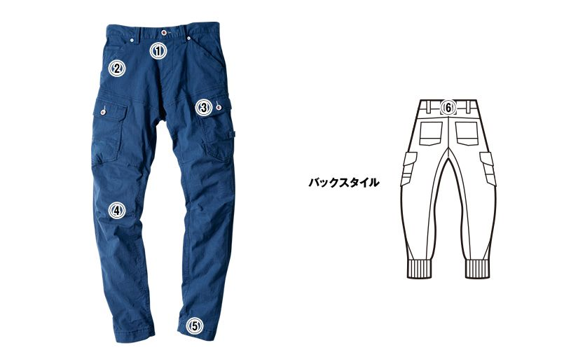 ジーベック 2259 [春夏用]現場服ジョガーパンツ(男性用) 商品詳細・こだわりPOINT
