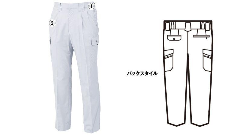 ジーベック 8896 [春夏用]ツータック ラットズボン 商品詳細・こだわりPOINT