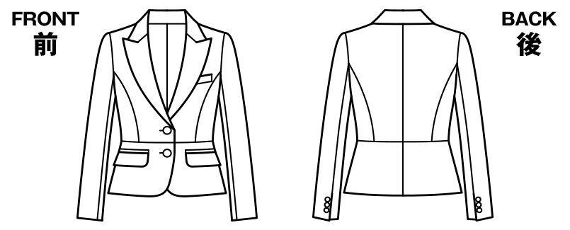 BONMAX AJ0225 アウトラストI [通年]ジャケット(2つボタン) ストライプ ハンガーイラスト・線画