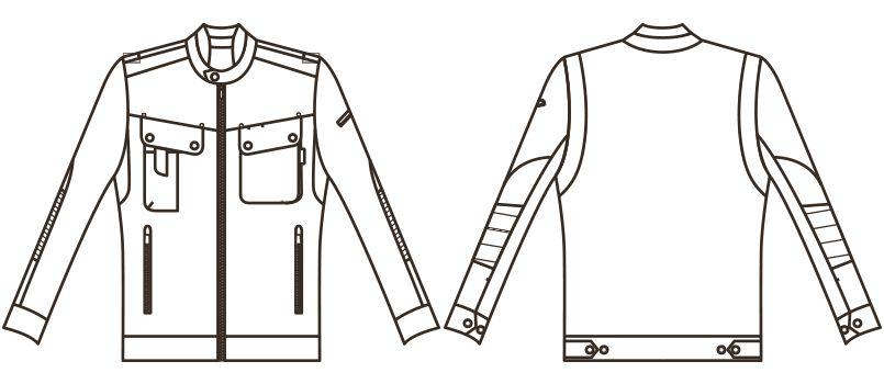 RJ0603 ROCKY メンズブルゾン(男性用) ハンガーイラスト・線画