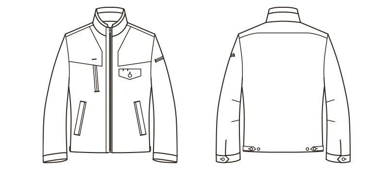 RJ0913 ROCKY ブルゾン(男女兼用) バックツイル ハンガーイラスト・線画