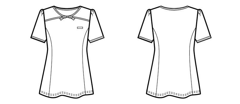 00122 BONUNI(ボストン商会) カットソー/半袖(女性用) ハンガーイラスト・線画