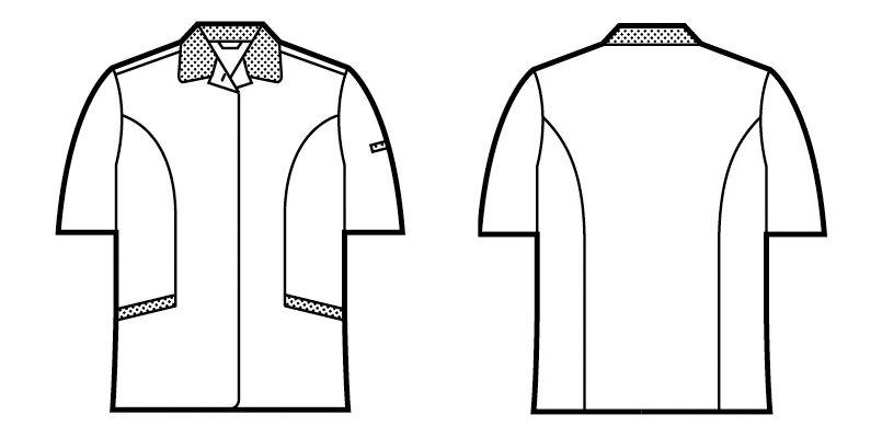自重堂 47835 [春夏用]エコ 5バリュー 半袖スモック(JIS T8118適合) ハンガーイラスト・線画