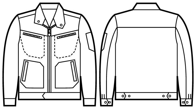 自重堂 52500 JAWIN ストレッチジャンパー ハンガーイラスト・線画