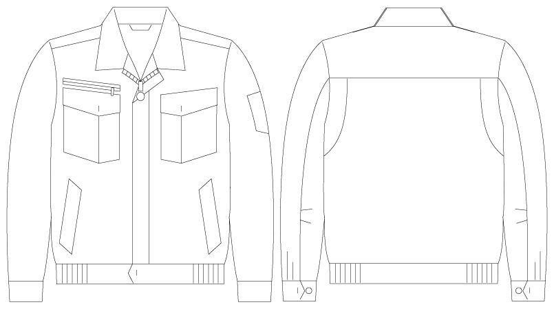 自重堂JAWIN 55200 [春夏用]長袖ブルゾン ハンガーイラスト・線画
