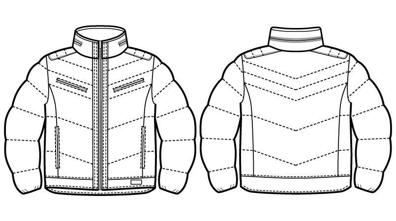 58400 自重堂JAWIN マルチストレッチ防寒ジャンパー(フード付)[刺繍NG](新庄モデル) ハンガーイラスト・線画