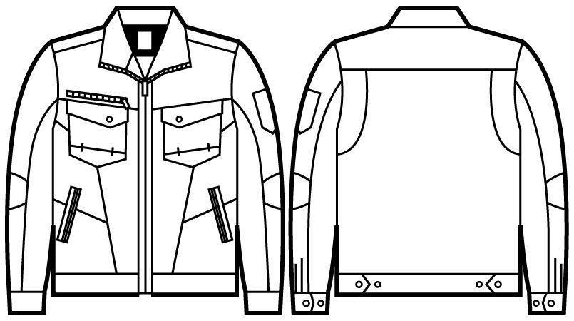 自重堂 71200 [秋冬用]Z-DRAGON 綿100%ジャンパー ハンガーイラスト・線画