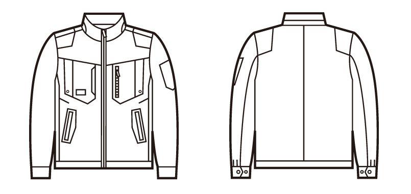 自重堂Z-DRAGON 71700 ストレッチジャンパー[フルハーネス対応] ハンガーイラスト・線画