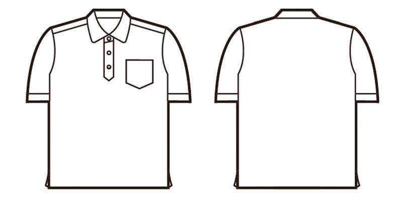 85214 自重堂 半袖/ドライポロシャツ(男女兼用) ハンガーイラスト・線画