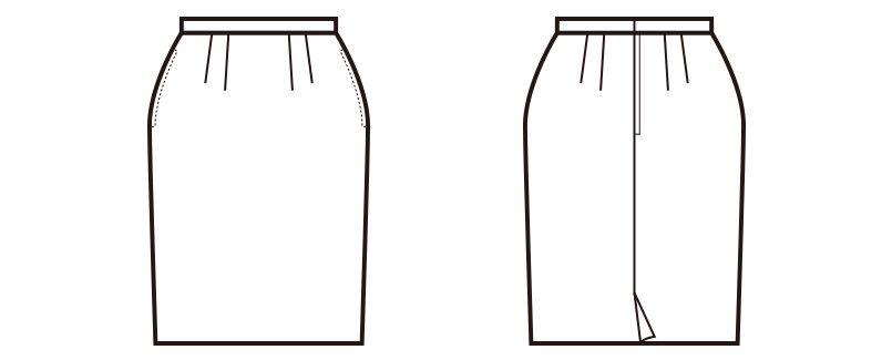 en joie(アンジョア) 51070 [通年]エコ素材でプチプラ人気のスカート 無地 ハンガーイラスト・線画